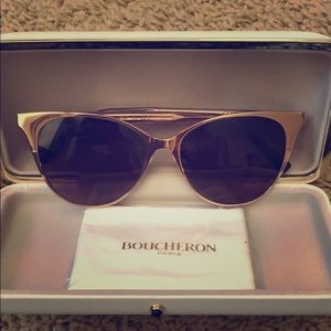 Boucheron Metal Cat Eye Sunglasses